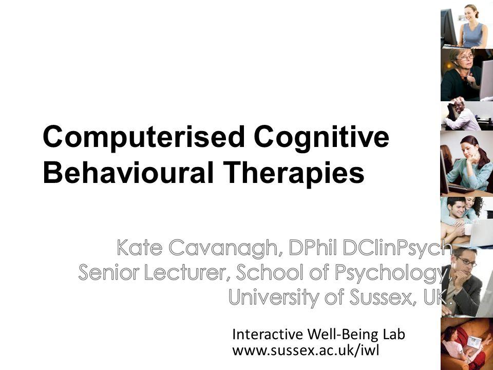 Computerised Cognitive Behavioural Therapies 12