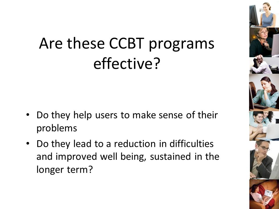 Are these CCBT programs effective.
