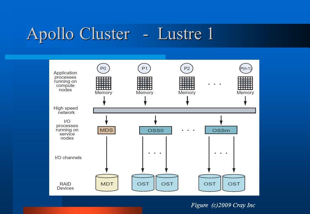 Apollo Cluster - Lustre 1 Figure (c)2009 Cray Inc