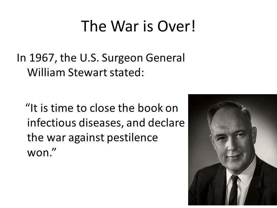 Timeline III: From antimicrobial therapy to antimicrobial resistance 1955 1961 Streptomycin first used in agriculture First case of MRSA TB & MDR-TB global health emergency 1948 Resistance observed in Staphylococci Treatment for plant diseases 1993 2011 Complete drug resistance 1952 S.