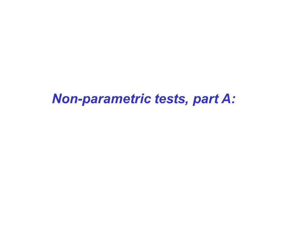 Non-parametric tests, part A: