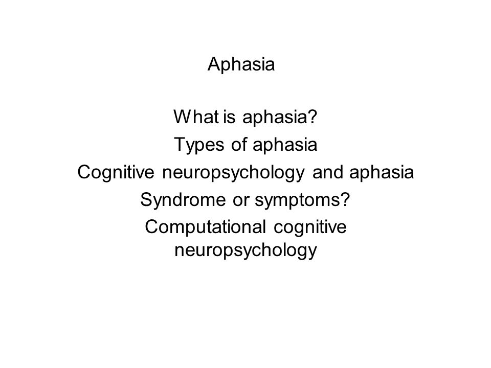 Aphasia What is aphasia.