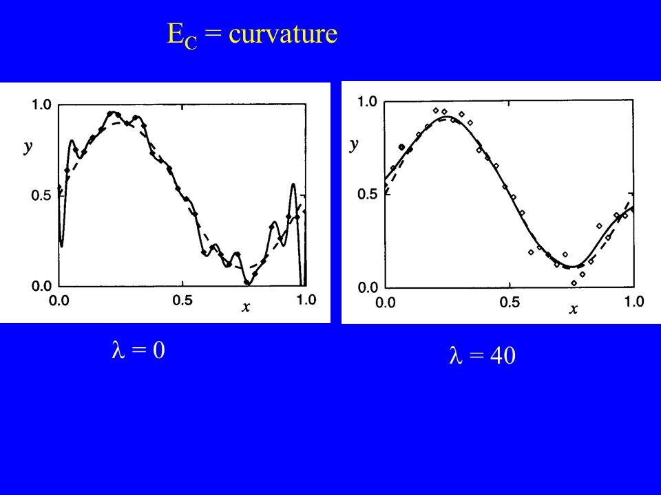 E C = curvature = 0 = 40