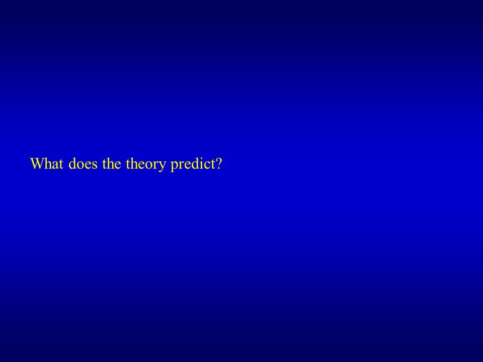 What does the theory predict?