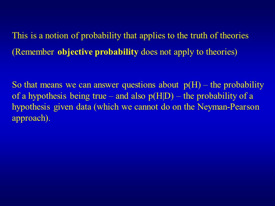 0 5 10 15 20 SE Difference between conditions Prediction of null Mean of data A theory predicts a difference between conditions, but a null result is obtained.