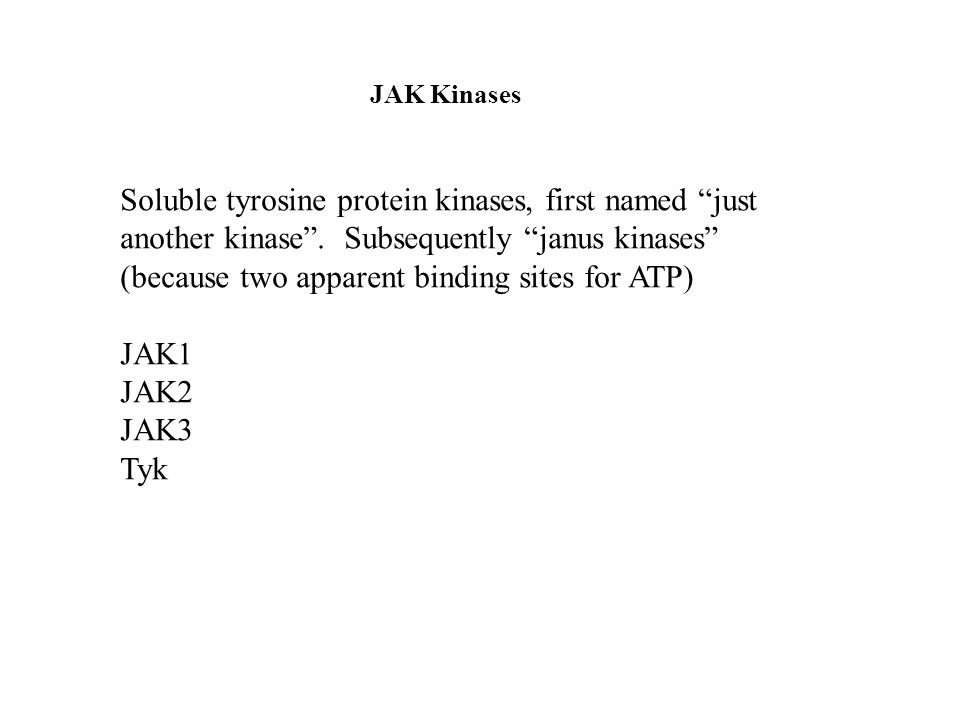 JAK Kinases Soluble tyrosine protein kinases, first named just another kinase.