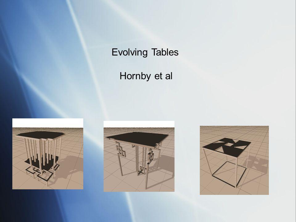 Evolving Tables Hornby et al