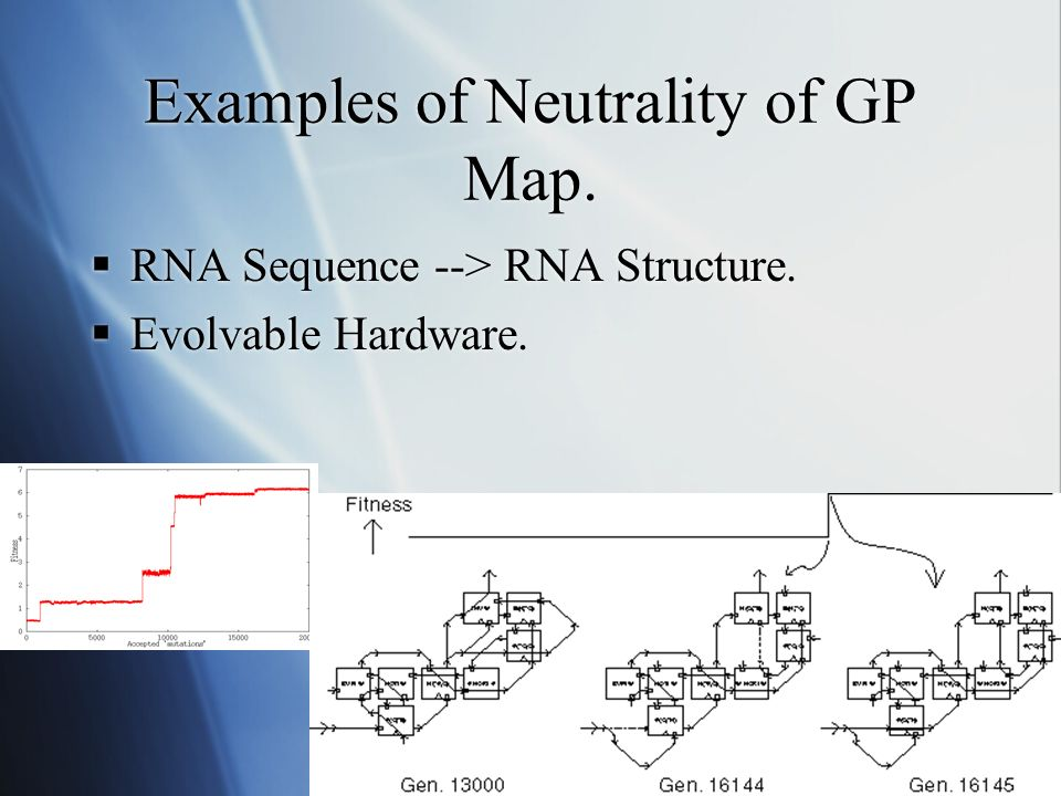 Examples of Neutrality of GP Map. RNA Sequence --> RNA Structure.