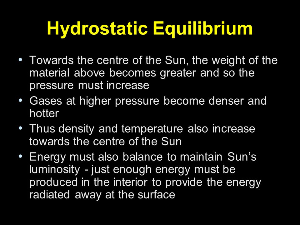 Towards the centre of the Sun, the weight of the material above becomes greater and so the pressure must increase Gases at higher pressure become dens