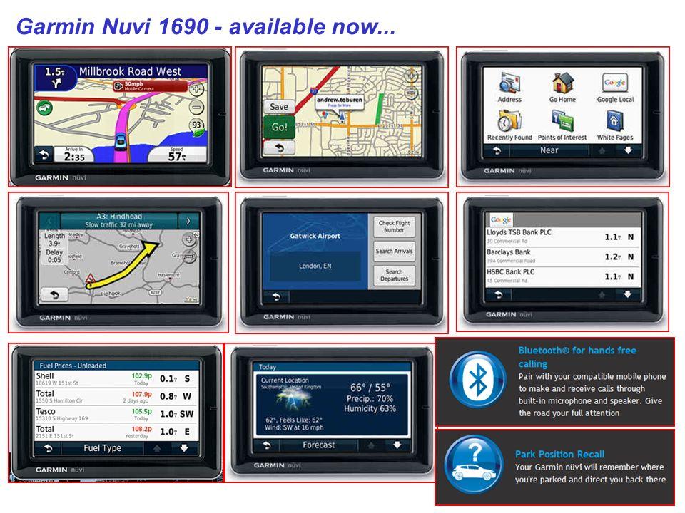 Garmin Nuvi 1690 - available now...