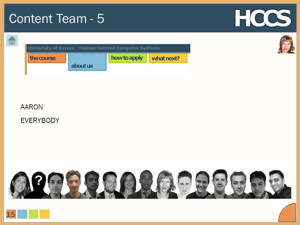 Content Team - 5 15 AARON EVERYBODY