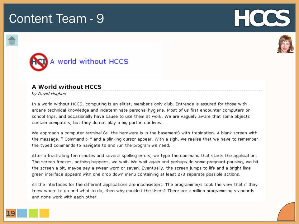 Content Team - 9 19