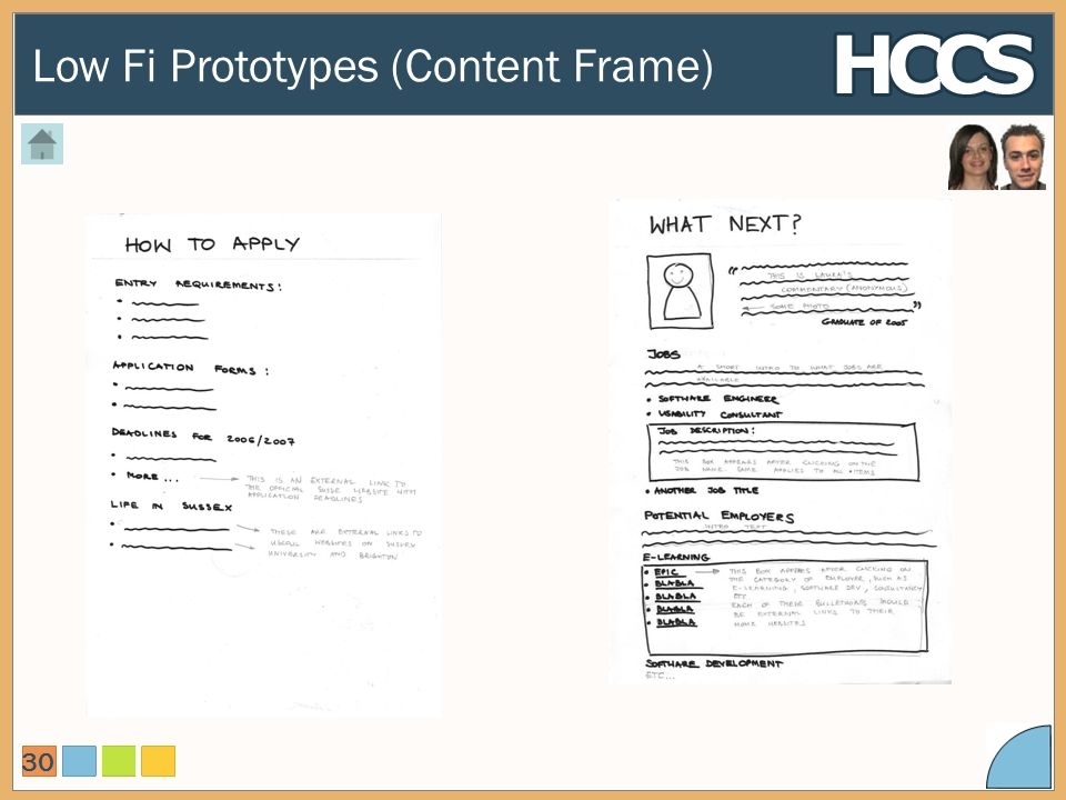 Low Fi Prototypes (Content Frame) 30