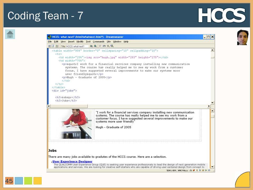 Coding Team - 7 45
