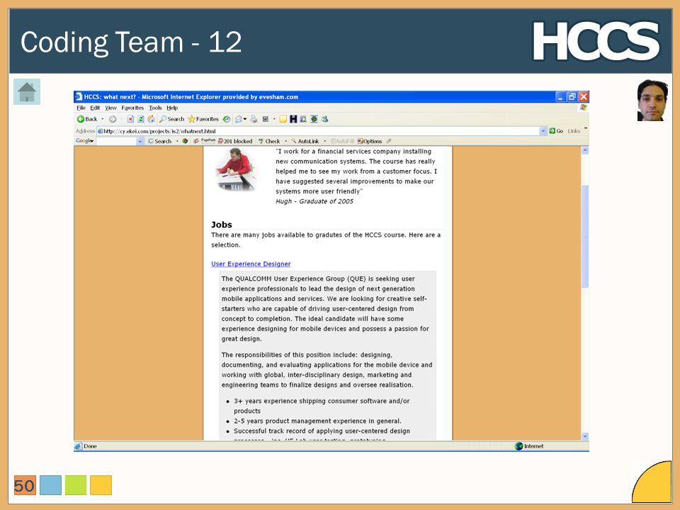Coding Team - 12 50