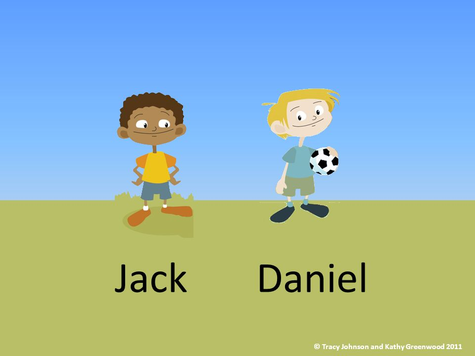 Now Jack says he doesnt want to play outside with Daniel at lunch time anymore. He only wants to play football on his computer at home. © Tracy Johnso
