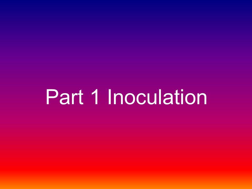 Part 1 Inoculation