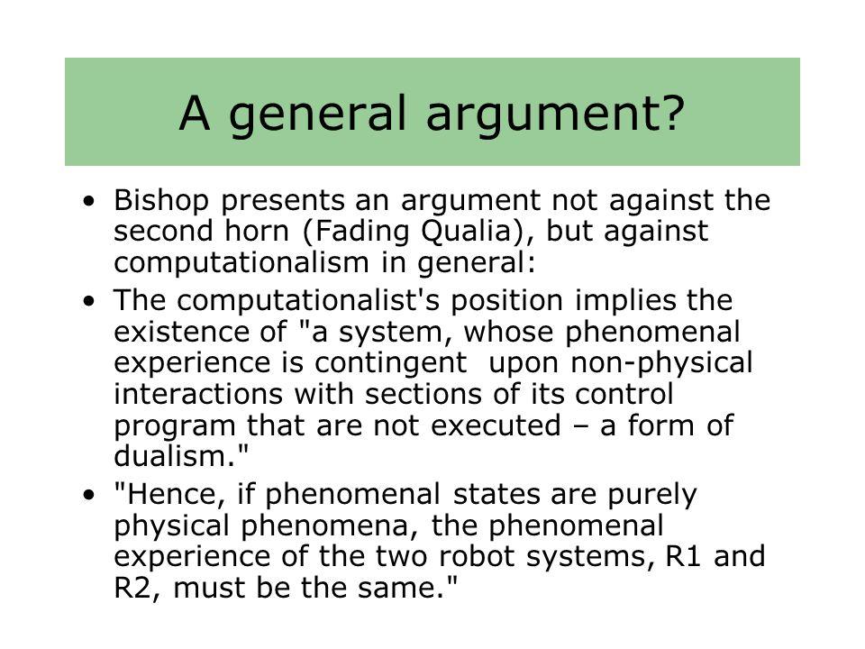 A general argument.