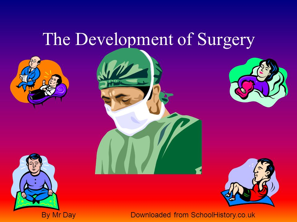 The Development of Surgery By Mr DayDownloaded from SchoolHistory.co.uk