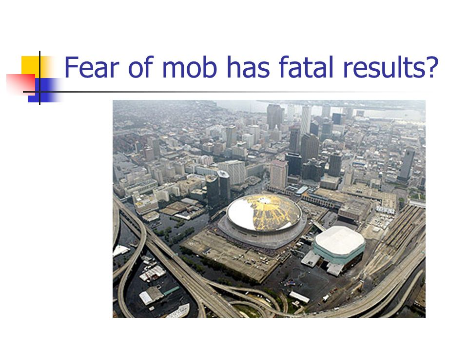 Fear of mob has fatal results
