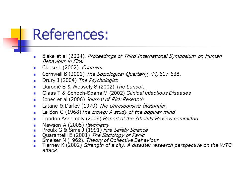 References: Blake et al (2004).