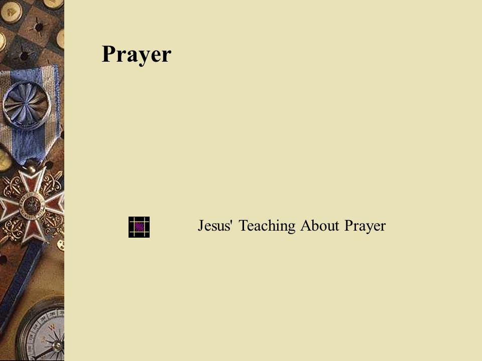 Prayer Jesus' Teaching About Prayer