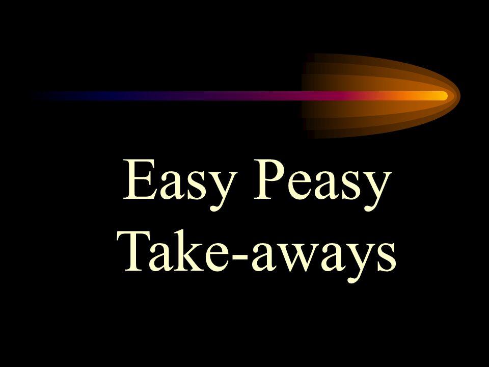 Easy Peasy Take-aways