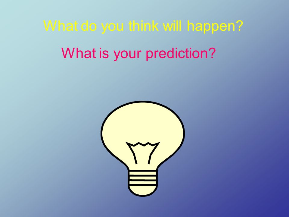 What do you think will happen? What is your prediction?