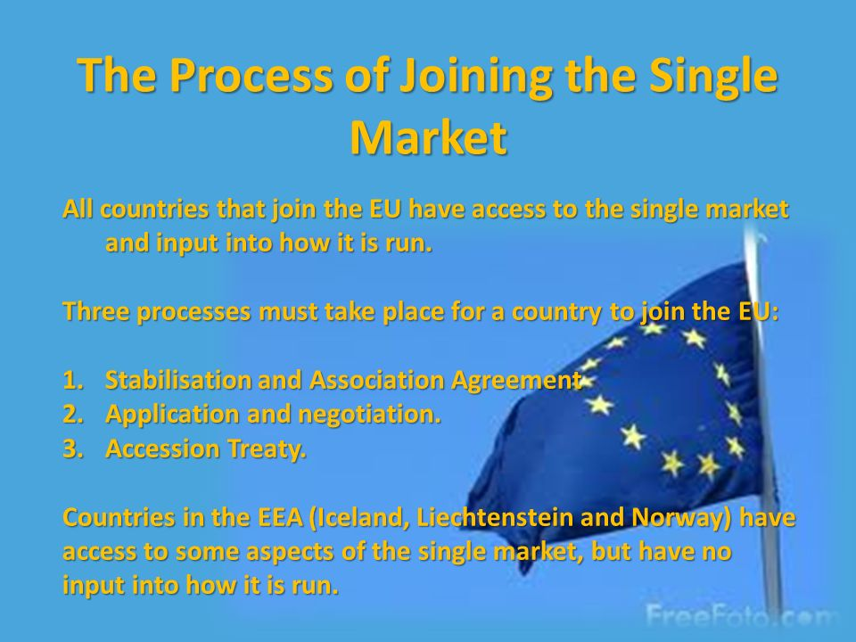 Four Fundamental Economic Freedoms: Free movement of: 1.Goods (customs union) 2.People 3.Services 4.Capital How does the EU single market work?