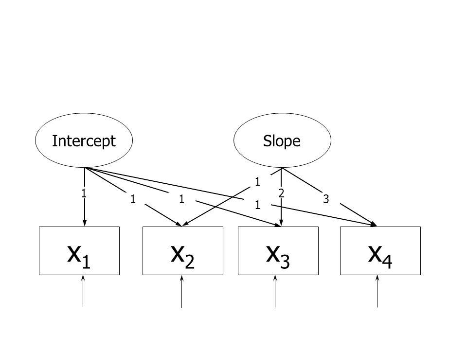 x1x1 x4x4 x2x2 x3x3 InterceptSlope 1 11 1 1 2 3