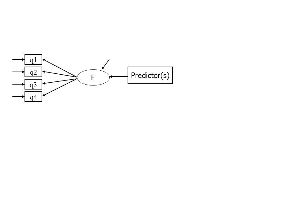 q1 q2 q3 q4 F Predictor(s)
