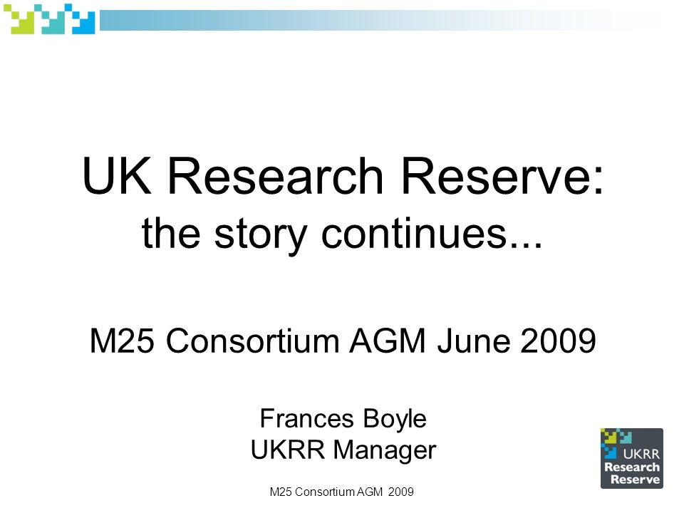 UK Research Reserve: the story continues...
