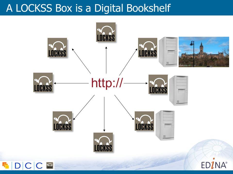 A LOCKSS Box is a Digital Bookshelf http://