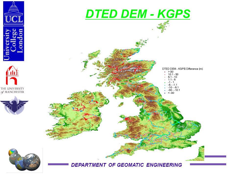 DEPARTMENT OF GEOMATIC ENGINEERING DTED DEM - KGPS