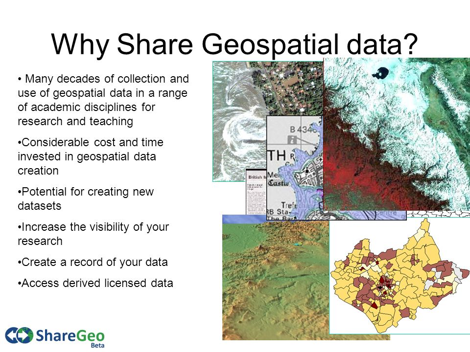 3 Why Share Geospatial data.