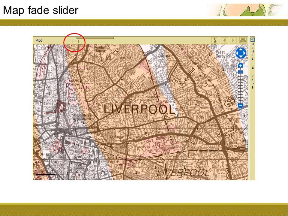Map fade slider