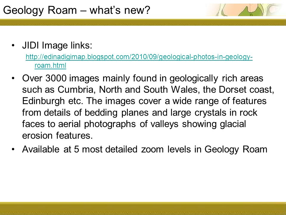 Geology Roam – whats new.