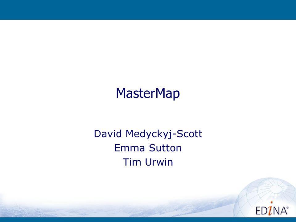 MasterMap David Medyckyj-Scott Emma Sutton Tim Urwin