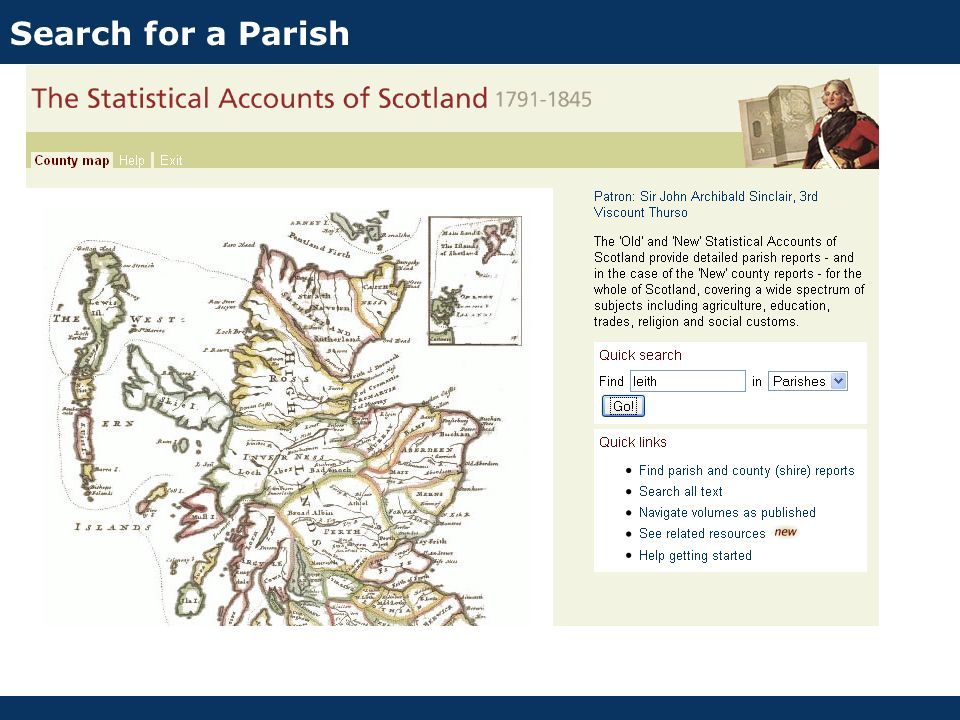 Search for a Parish