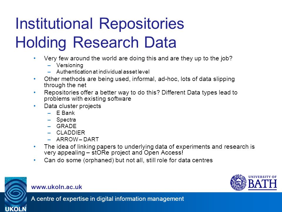 A centre of expertise in digital information management www.ukoln.ac.uk Technical Interoperability Federation models interoperability and inter- relationships between repositories