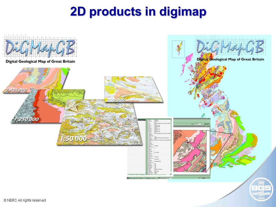 © NERC All rights reserved 2D products in digimap 8 km