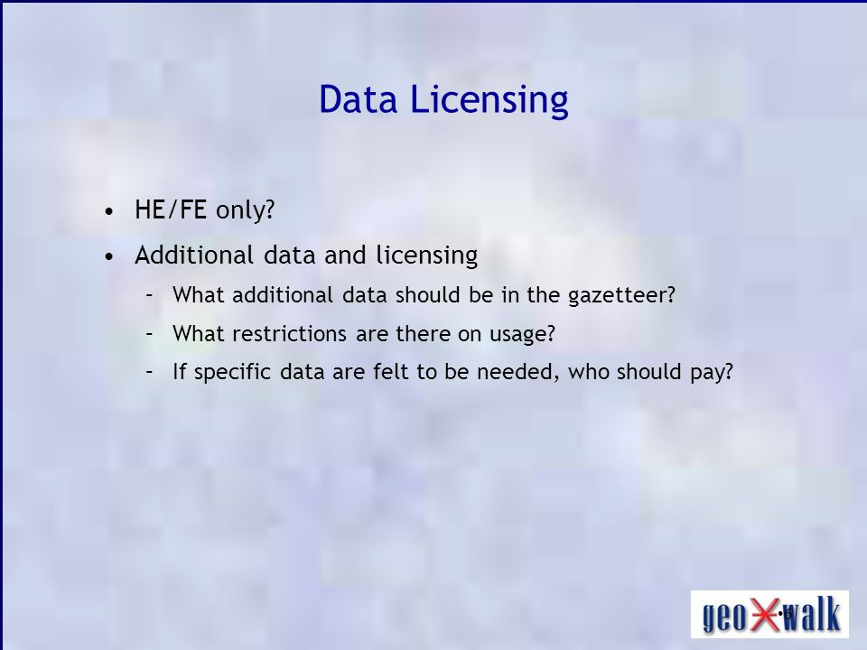 6 Data Licensing HE/FE only.