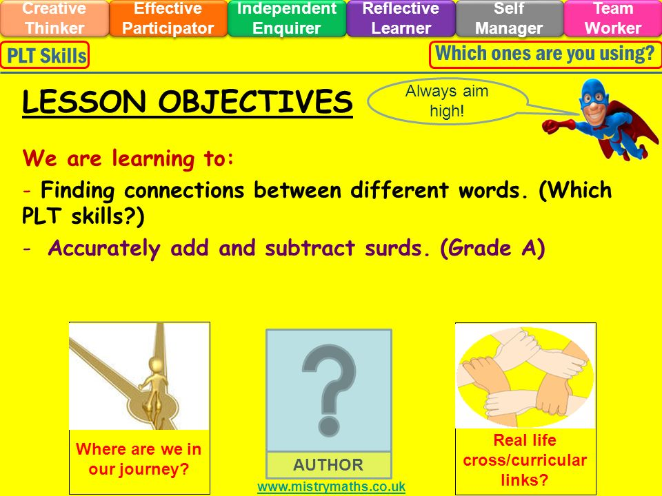 We are learning to: - Finding connections between different words.