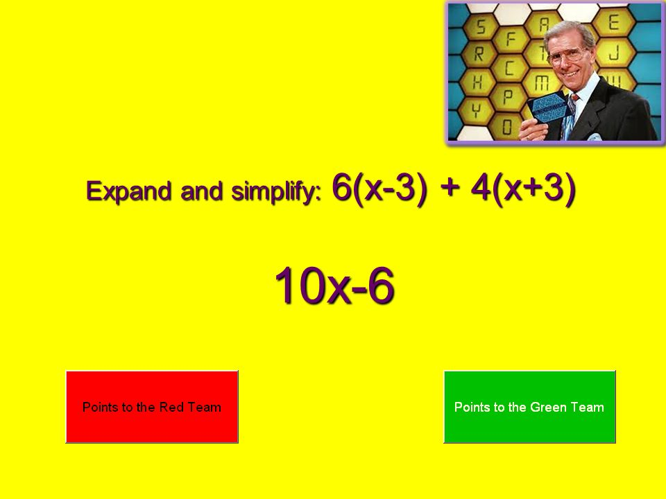 Expand and simplify: 6(x-3) + 4(x+3) 10x-6