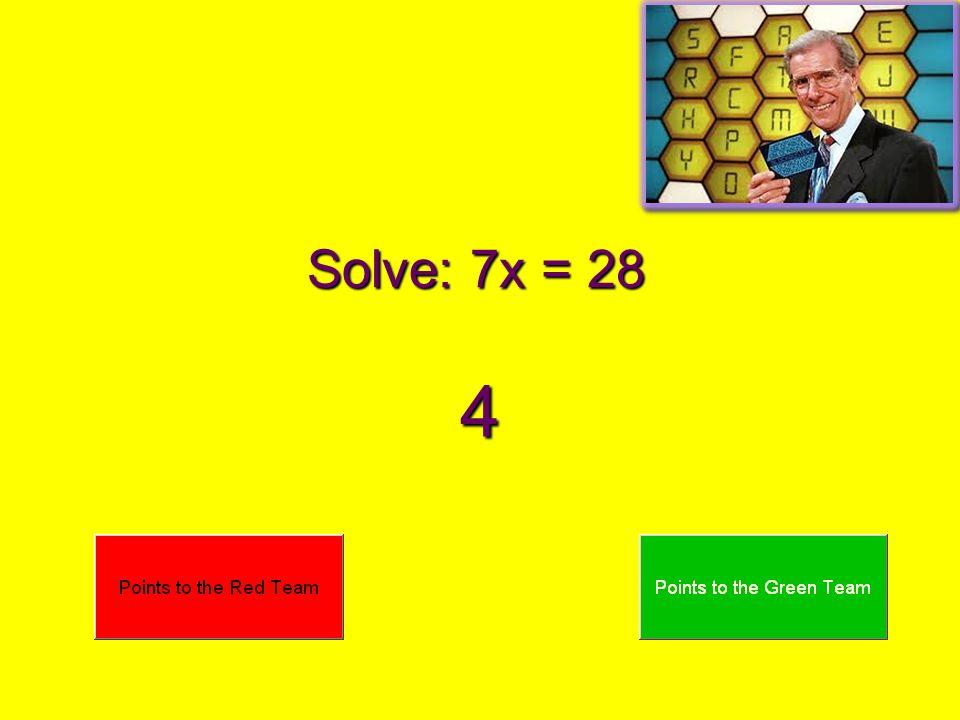 Solve: 8x = 24 3