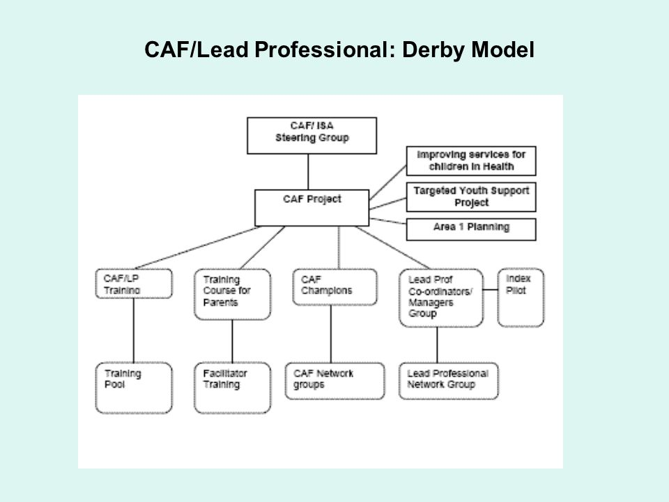 CAF/Lead Professional: Derby Model