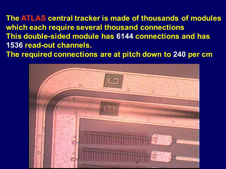 The ATLAS experiment is 26m long, stands 20m high, weighs 7000 tons and has 200 million read-out channels.