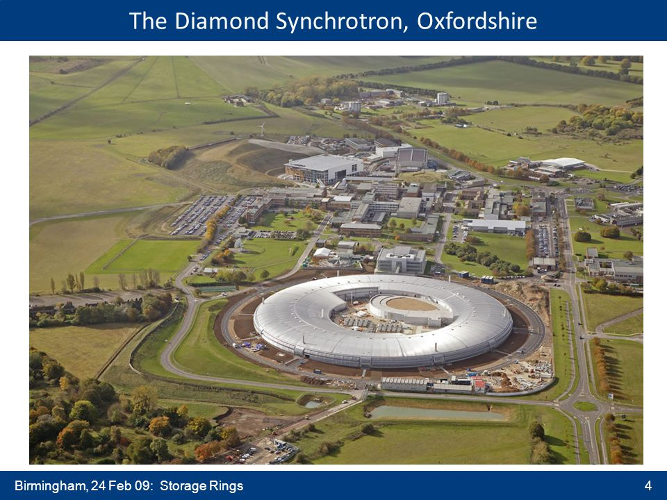 Birmingham, 24 Feb 09: Storage Rings4 The Diamond Synchrotron, Oxfordshire