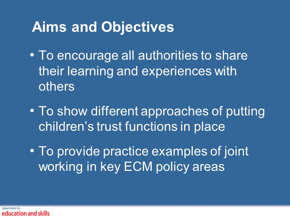 Progress so far Development of Resource and Practice database (RAP) on the ECM website with over 100 case studies and other useful documents Together with IDeA produced 12 whole system journeys- childrens trust case studies Developed generic case study specification