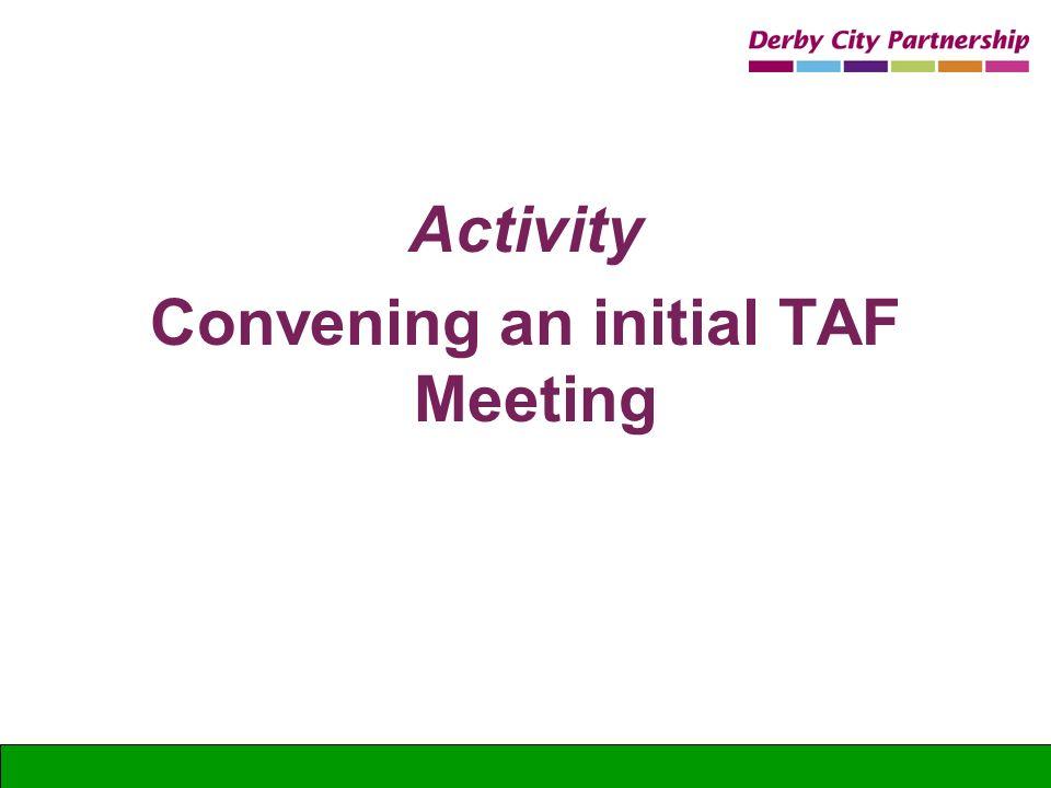 Activity Convening an initial TAF Meeting
